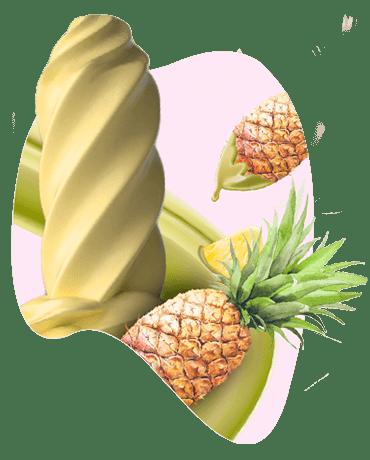Conheça o nosso Sorvete sabor abacaxi
