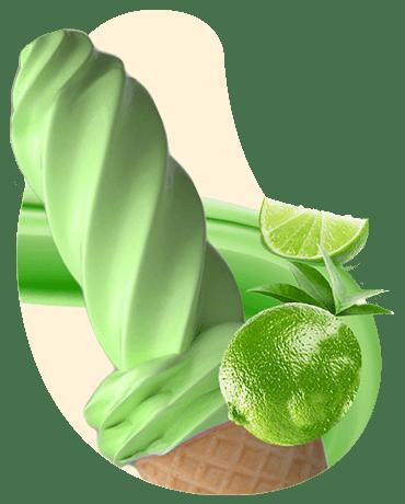 Conheça o nosso Sorvete sabor limão