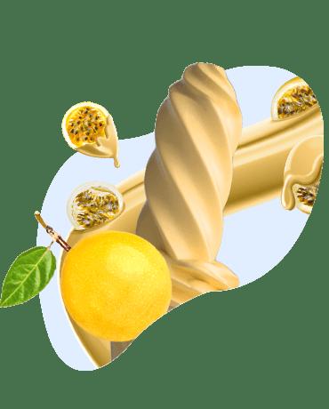 Conheça o nosso Sorvete sabor maracujá